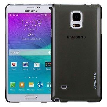 Samsung Galaxy Note 4 Momax Ultra Thin Series Kova Kotelo Clear Breeze Musta