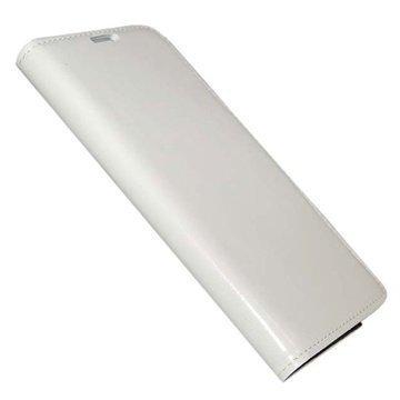 Samsung Galaxy Note 4 UreParts Uranus Nahkainen Kirjamainen Suojakotelo Valkoinen