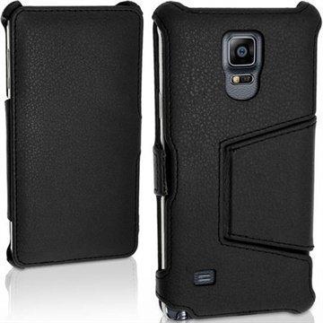 Samsung Galaxy Note 4 iGadgitz Premium Nahkainen Läppäkotelo Musta