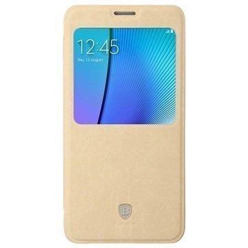 Samsung Galaxy Note 5 Baseus Terse Series Avattava Kotelo Khaki