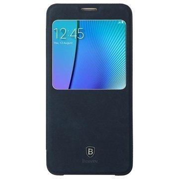 Samsung Galaxy Note 5 Baseus Terse Series Avattava Kotelo Tummansininen