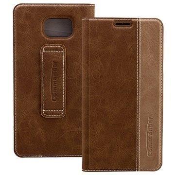 Samsung Galaxy Note 5 Commander Book Flip Case Gentle Brown
