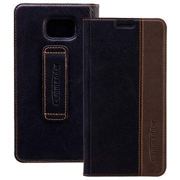 Samsung Galaxy Note 5 Commander Book Läppäkotelo Lempeä Musta