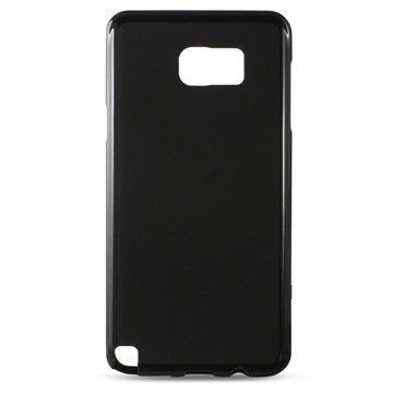 Samsung Galaxy Note 5 Ksix Flex TPU Suojakuori Musta
