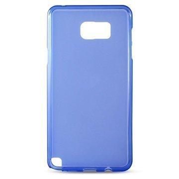 Samsung Galaxy Note 5 Ksix Flex TPU Suojakuori Sininen