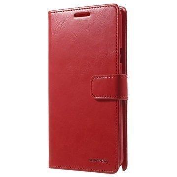 Samsung Galaxy Note 5 Mercury Goospery Blue Moon Diary Lompakkokotelo Punainen