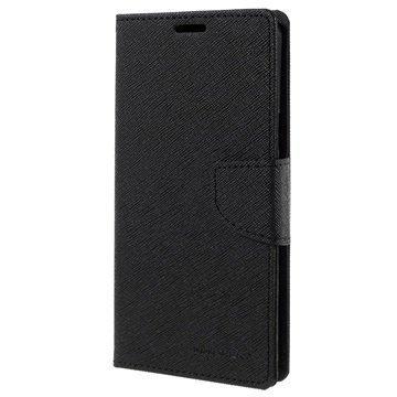 Samsung Galaxy Note 5 Mercury Goospery Fancy Diary Lompakkokotelo Musta