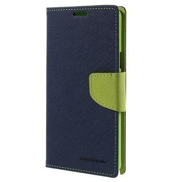 Samsung Galaxy Note 5 Mercury Goospery Fancy Diary Lompakkokotelo Sininen / Vihreä