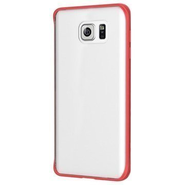 Samsung Galaxy Note 5 Rock Pure Series Kova Kotelo Läpinäkyvä / Punainen