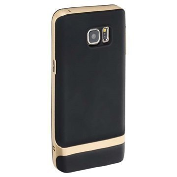 Samsung Galaxy Note 5 Rock Royce Series Suojakuori Musta / Kultainen