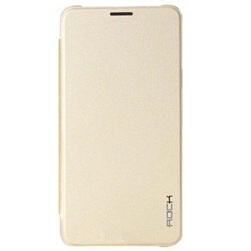 Samsung Galaxy Note 5 Rock Touch Series Läppäkotelo Kultainen