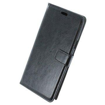 Samsung Galaxy Note 5 UreParts Uranus Nahkainen Kirjamainen Suojakotelo Musta