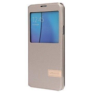 Samsung Galaxy Note 5 Usams Muge Series Ikkunallinen Kotelo Samppanja