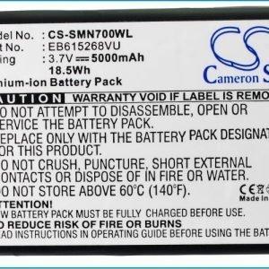 Samsung Galaxy Note GT-N7000 GT-I9220 tehoakku erillisellä laajennetulla valkoisella takakannella 5000 mAh