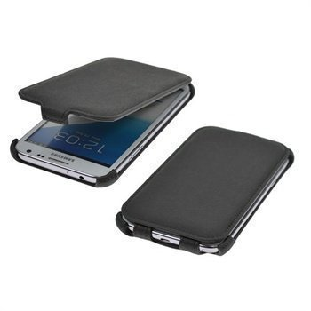 Samsung Galaxy Note II N7100 StarCase Roma Classic Flip Leather Case Dark Grey