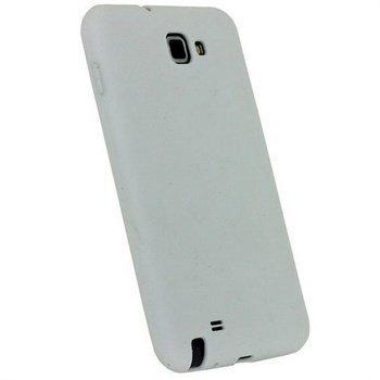 Samsung Galaxy Note N7000 iGadgitz Silikonikotelo Valkoinen
