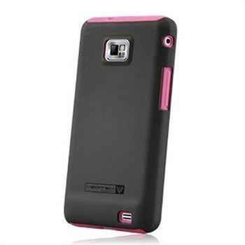 Samsung Galaxy S 2 I9100 Naztech Vertex 3-kerroksinen Kotelo Vaaleanpunainen