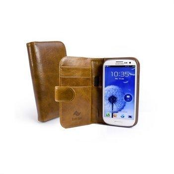 Samsung Galaxy S 3 i9300 Tuff-Luv Vintage Wallet Nahkakotelo Ruskea