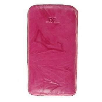 Samsung Galaxy S 4 I9500 I9505 DC Washed SRC Slide Nahkainen Kotelo Fuksia