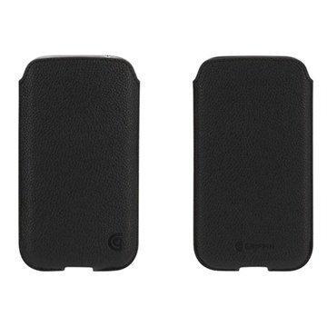 Samsung Galaxy S 4 I9500 I9505 Griffin Trend Nahkakotelo Musta