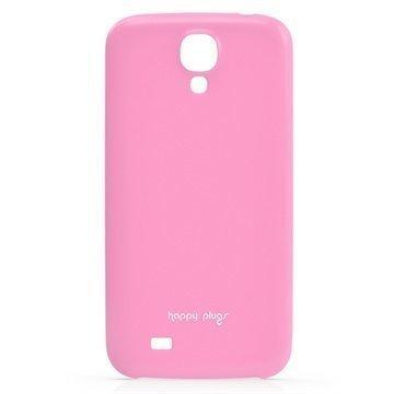 Samsung Galaxy S 4 I9500 I9505 Happy Plugs Ohut Suojakotelo Vaaleanpunainen