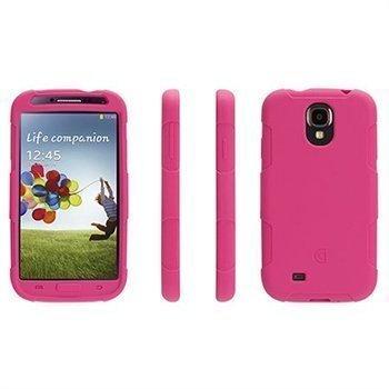 Samsung Galaxy S 4 I9500 I9505 I9502 Griffin Survivor Silikonikotelo Vaaleanpunainen