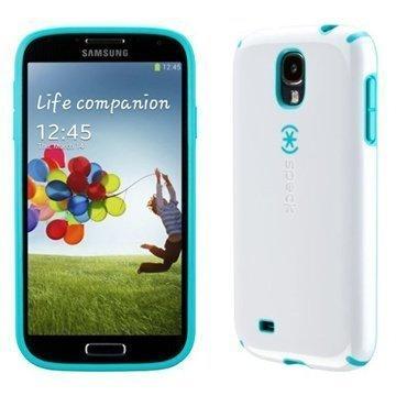 Samsung Galaxy S 4 I9500 I9505 Speck Candyshell Kotelo Valkoinen / Karibia Sininen