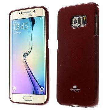 Samsung Galaxy S 6 Edge Mercury Goospery TPU Kotelo Punainen