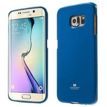 Samsung Galaxy S 6 Edge Mercury Goospery TPU Kotelo Tummansininen
