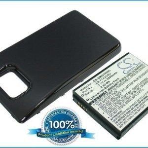 Samsung Galaxy S II Galaxy S2 GT-I9100 yhteensopiva akku laajennetulla takakannella 2600 mAh