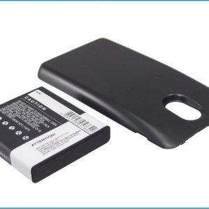 Samsung Galaxy S II HD LTE tehoakku erillisellä laajennetulla mustalla takakannella 2800 mAh