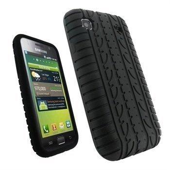 Samsung Galaxy S iGadgitz Rengaskuvioinen Silikonikotelo Musta