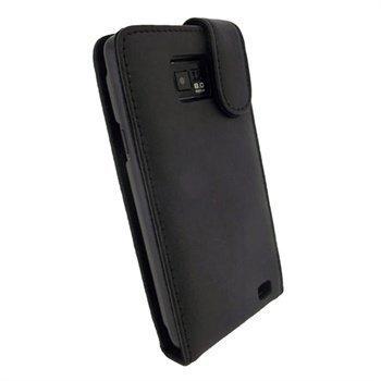 Samsung Galaxy S2 I9100 iGadgitz Nahkainen Läppäkotelo Musta