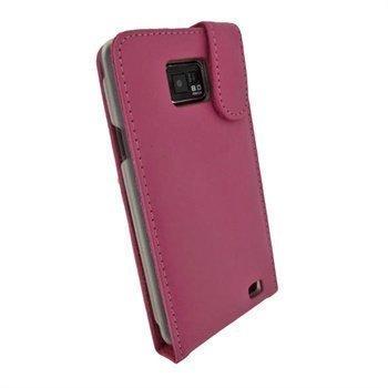 Samsung Galaxy S2 I9100 iGadgitz Nahkainen Läppäkotelo Pinkki