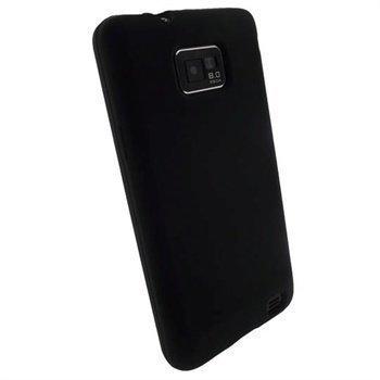 Samsung Galaxy S2 I9100 iGadgitz Silikonikotelo Musta