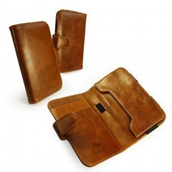 Samsung Galaxy S2 i9100 S3 i9300 Tuff-Luv Vintage Wallet Nahkakotelo Ruskea