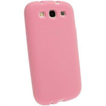 Samsung Galaxy S3 I9300 I9305 iGadgitz Silikonikotelo Pinkki
