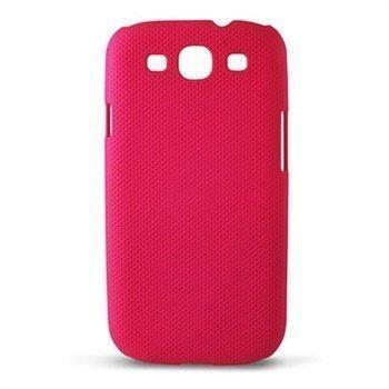 Samsung Galaxy S3 I9300 Ksix Dots Kovakantinen Suojakuori Fuksianpunainen