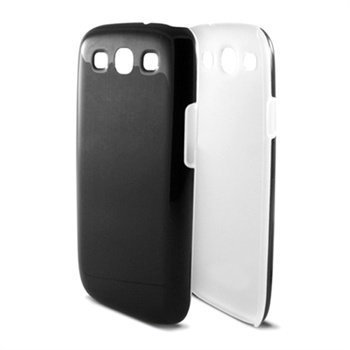 Samsung Galaxy S3 I9300 Ksix Line Kovakantinen Suojakuori Musta