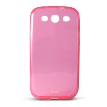 Samsung Galaxy S3 I9300 Ksix TPU-Suojakotelo Pinkki / Läpinäkyvä