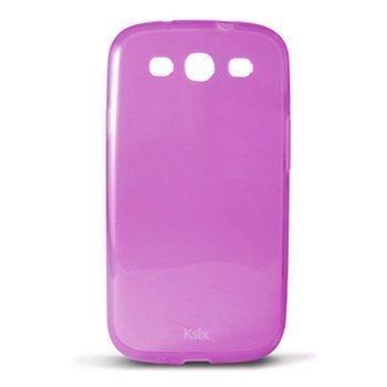 Samsung Galaxy S3 I9300 Ksix TPU-Suojakotelo Purppura / Läpinäkyvä