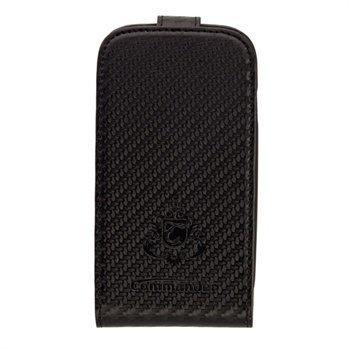 Samsung Galaxy S3 Mini I8190 Commander Deluxe Nahkakotelo Hiilen Musta