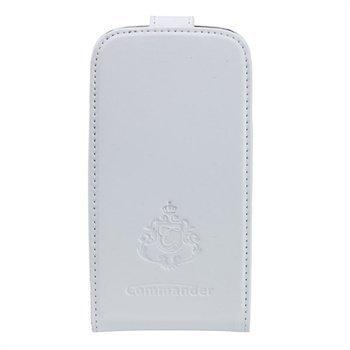 Samsung Galaxy S3 Mini I8190 Commander Deluxe Nahkakotelo Valkoinen