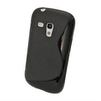 Samsung Galaxy S3 Mini I8190 iGadgitz Kaksivärinen TPU-Suojakotelo Musta