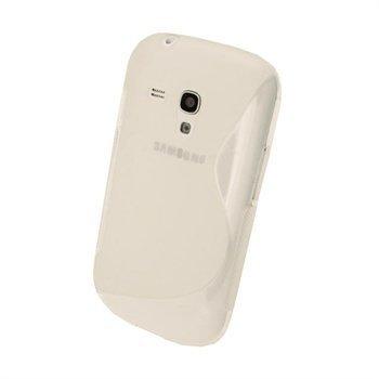 Samsung Galaxy S3 Mini I8190 iGadgitz Kaksivärinen TPU-Suojakotelo Vaalea