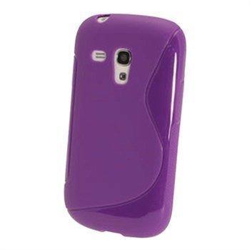Samsung Galaxy S3 Mini I8190 iGadgitz Kaksivärinen TPU-Suojakotelo Violetti