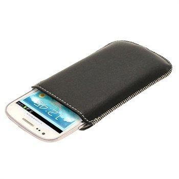 Samsung Galaxy S3 Mini I8190 iGadgitz Nahkakotelo Musta