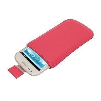 Samsung Galaxy S3 Mini I8190 iGadgitz Nahkakotelo Pinkki