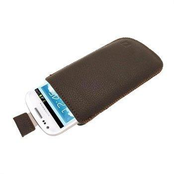 Samsung Galaxy S3 Mini I8190 iGadgitz Nahkakotelo Ruskea