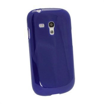 Samsung Galaxy S3 Mini I890 iGadgitz Glossy TPU Deksel Blå